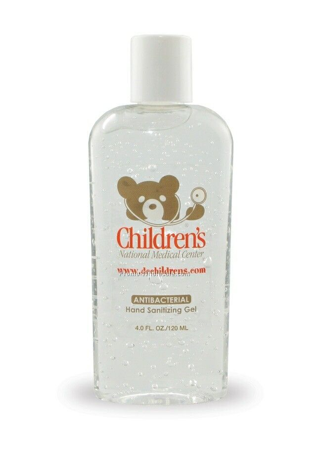 4 Oz. Hand Sanitizing Gel W/ Blue Moisture Beads - Antibacterial/Alcohol
