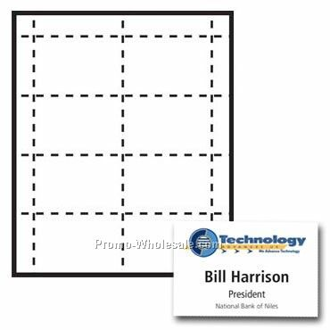 "4""x2-1/2"" Custom Nametag Inserts - 4 Color"