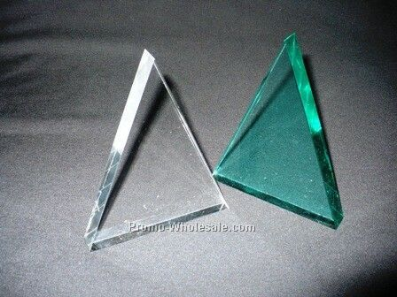 "5"" Clear Or Jade Triangle Acrylic Lucite"