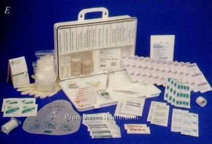50 Person First Aid Kit In A 36 Unit Plastic Case