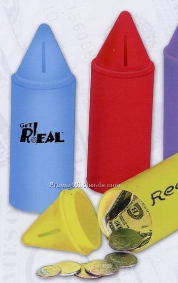 "6"" Crayon Bank W/O Stock Graphic"
