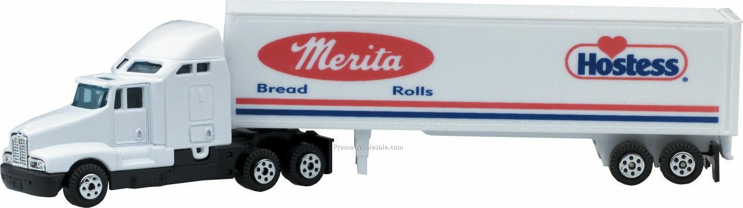 "7"" Die Cast Conventional Hauler Truck With Trailer"