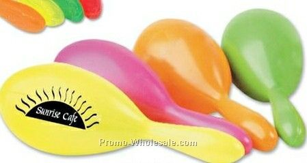 "7"" Neon Maracas In Assorted Colors"