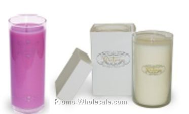 7 Oz. Soy Candle - In Clear Glass Cylinder (60 Hour Burn)