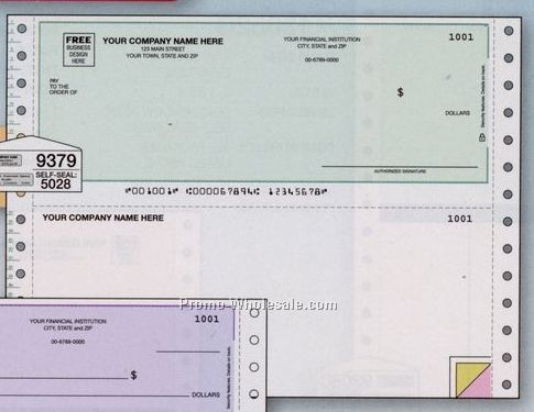 "8-1/2""x7"" Multipurpose Voucher Check - Unlined"