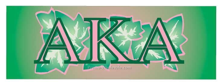 "Alpha Kappa Alpha Sorority Mascot Badge W/ Metal Pin (1-5/8""x4-5/8"")"