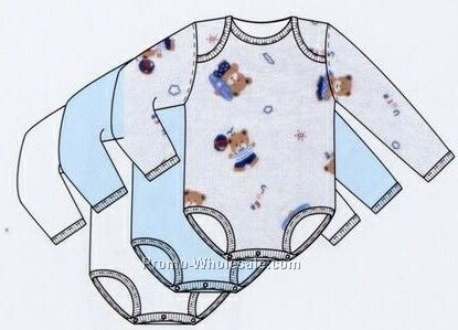 Boys Prints Variety Long Sleeve One Piece / Onesie (Newborn-large)