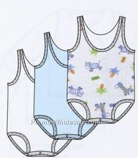Boys Prints Variety One Piece Sleeveless Onesie (Newborn-large)