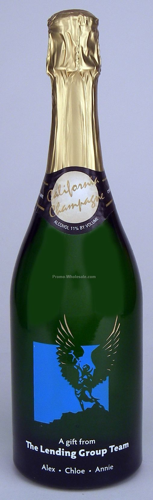California Sparkling Wine, 750 Ml, 1 Deep Hand-etch, 3 Paint Fills