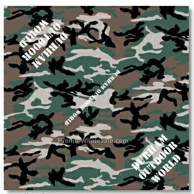 "Camouflage Bandanna - 22""x22"" (Screen Printed)"