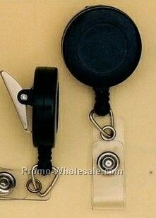 Clear Swivel Back Badge Reel