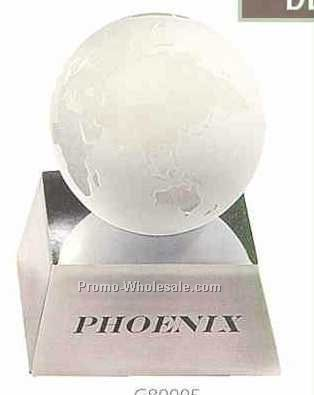 "Desk Accessories 3"" Globe(White)"