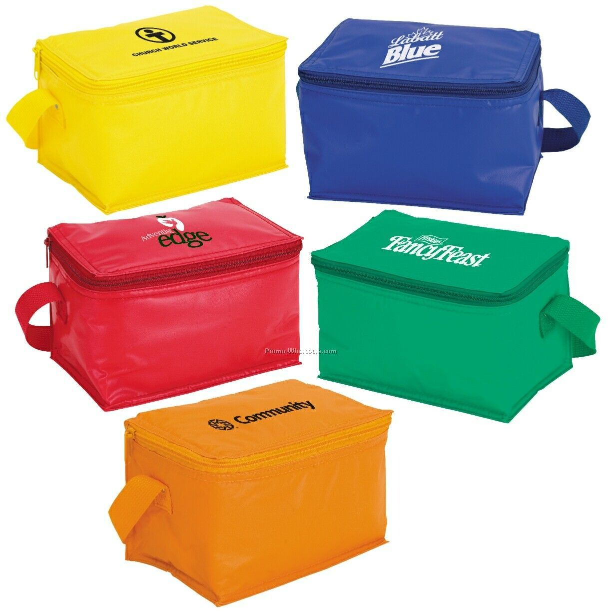 "Giftcor Green Econo 6-can Cooler 5""x8""x5"""