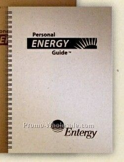 "Large Personal Energy Saving Guide Journal 8-1/2""x11"""