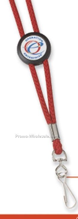 Logo Slider Rope Lanyard W/Swivel Clip (7-10 Days)