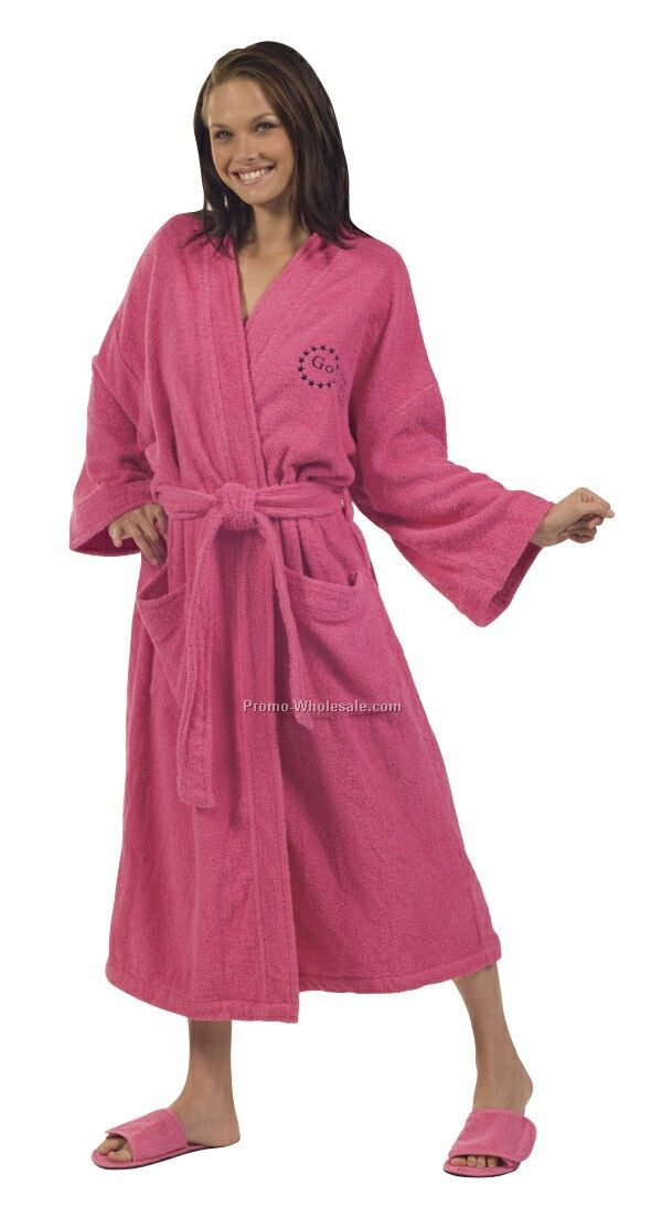 Loop Terry Kimono Robe - 1 Size (Embroidered) Colors