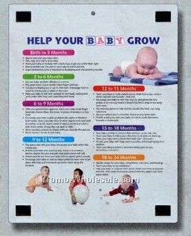 Magnetic Memo Board With Help Your Baby Grow Chart Back Side Stock Layout