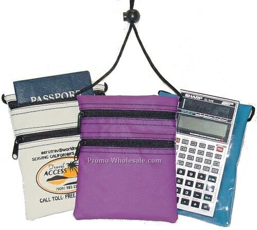Neck Pouch W/ Adjustable Strap - 70d