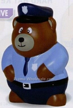 Police Bear Squeeze Toy