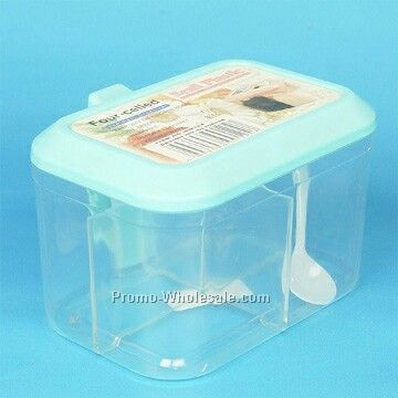 Rectangle Spice Container W/Spoon
