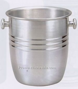 Ribbed Wine Bucket W/ 2 Knob Handles