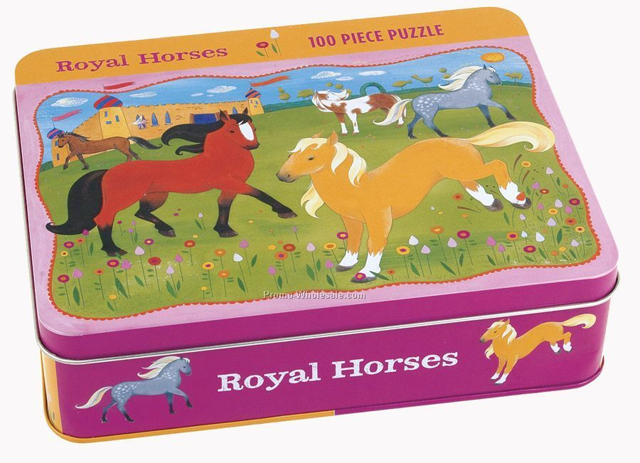 Royal Horses Collectible Tin Puzzle