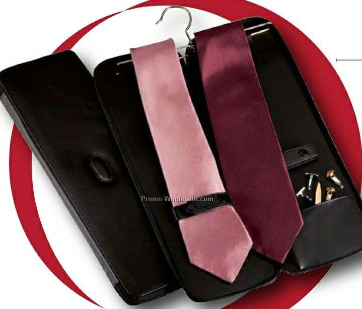 Tie Case With Hanger (Florentine Napa Leather)