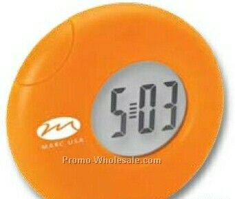 "Valumark Red Desk Clock 3""x3-1/8""x3/4"""