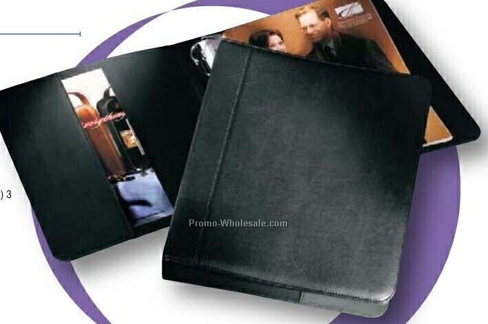 "1-1/2"" Three Ring Florentine Napa Leather Binder"