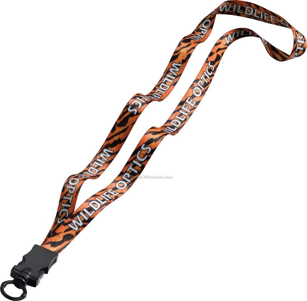 "1/2"" Dye Sublimated Lanyard With Snap Buckle Release & O-ring"