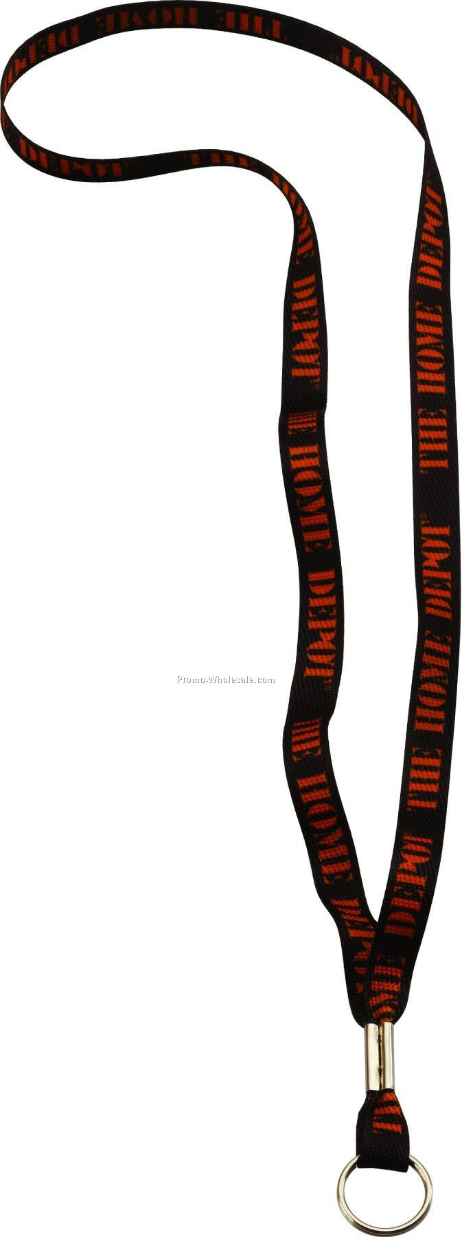 "1/2"" Waffle Weave Dye Sublimated Lanyard W/ Metal Crimp & Metal Split Ring"