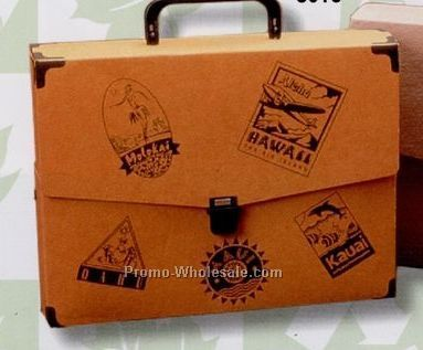"12-1/4""x9-1/2""x2-1/2"" Recycled Ecoboard And Textured Board Attache Case"