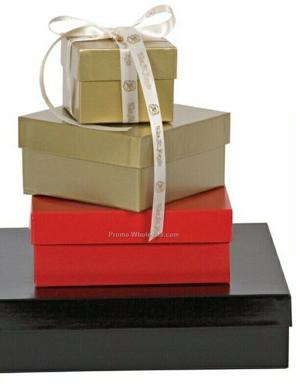 "12""x12""x9"" Gold Folding High Wall Box"