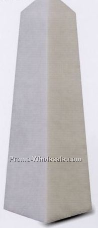 "2-1/4""x8""x2-1/4"" White Marble Pinnacle Award - Small"