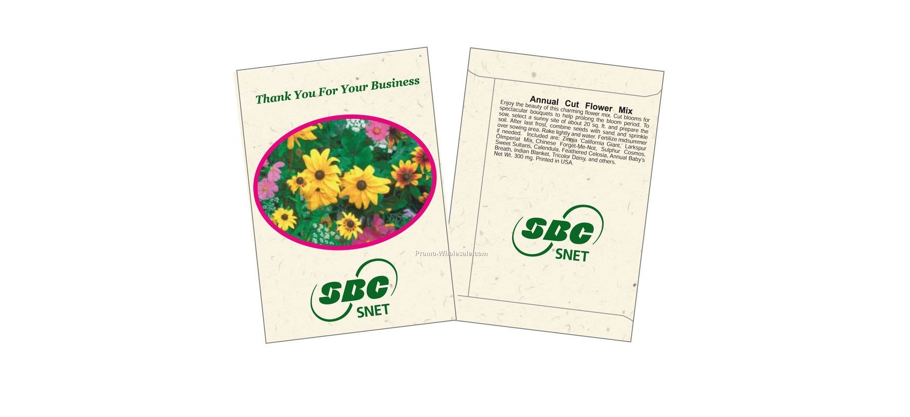 "3-1/4""x4-1/2"" Annual Cut Flower Mixture Seed Packet (1 Color)"