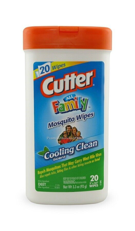 3.3 Oz. Cutter Mosquito Wet Wipes Canister