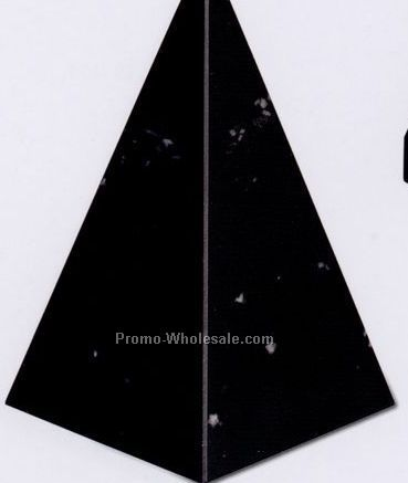 "3""x5""x3"" Pyramid Award - Jet Black (Medium)"