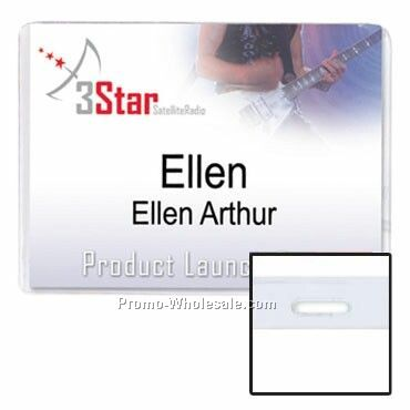 "4""x3"" Vinyl Nametag Holder Slotted"