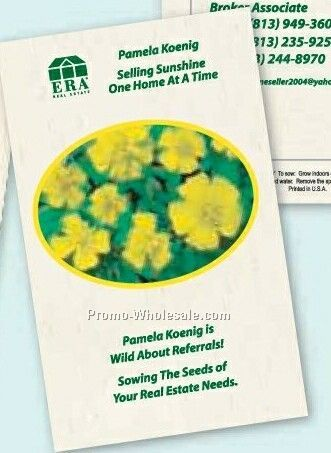 "4""x6-1/2"" Marigold ""lemon Drop"" Postcard Size Seed Packet (2 Color)"