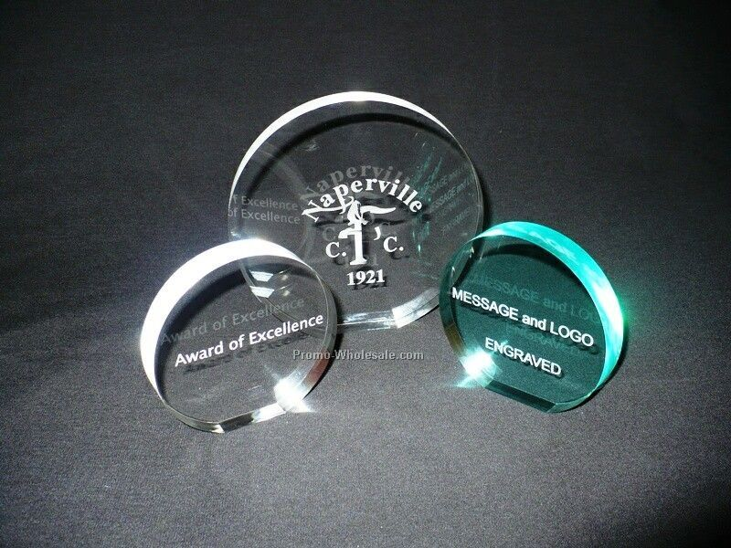 "5"" Acrylic Engraved Round Display"