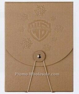"5-1/2""x7-1/2""x1/2"" Elastic Button DVD Box (Soft Recycled Pressboard)"