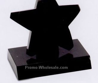"6""x5-1/2""x3-1/2"" Star On Base Award - Small"
