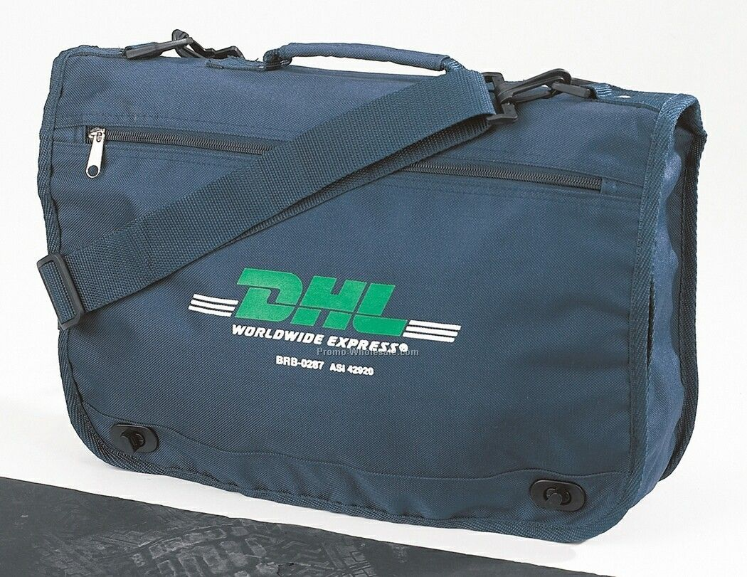 600d Document Bag W/ Twist Lock Closure