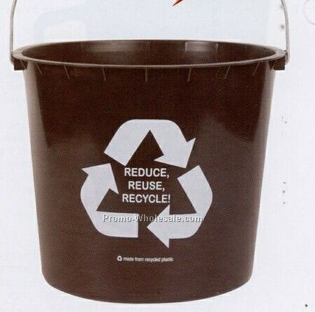 9-1/2 Quart 100% Recycled Plastic Pail