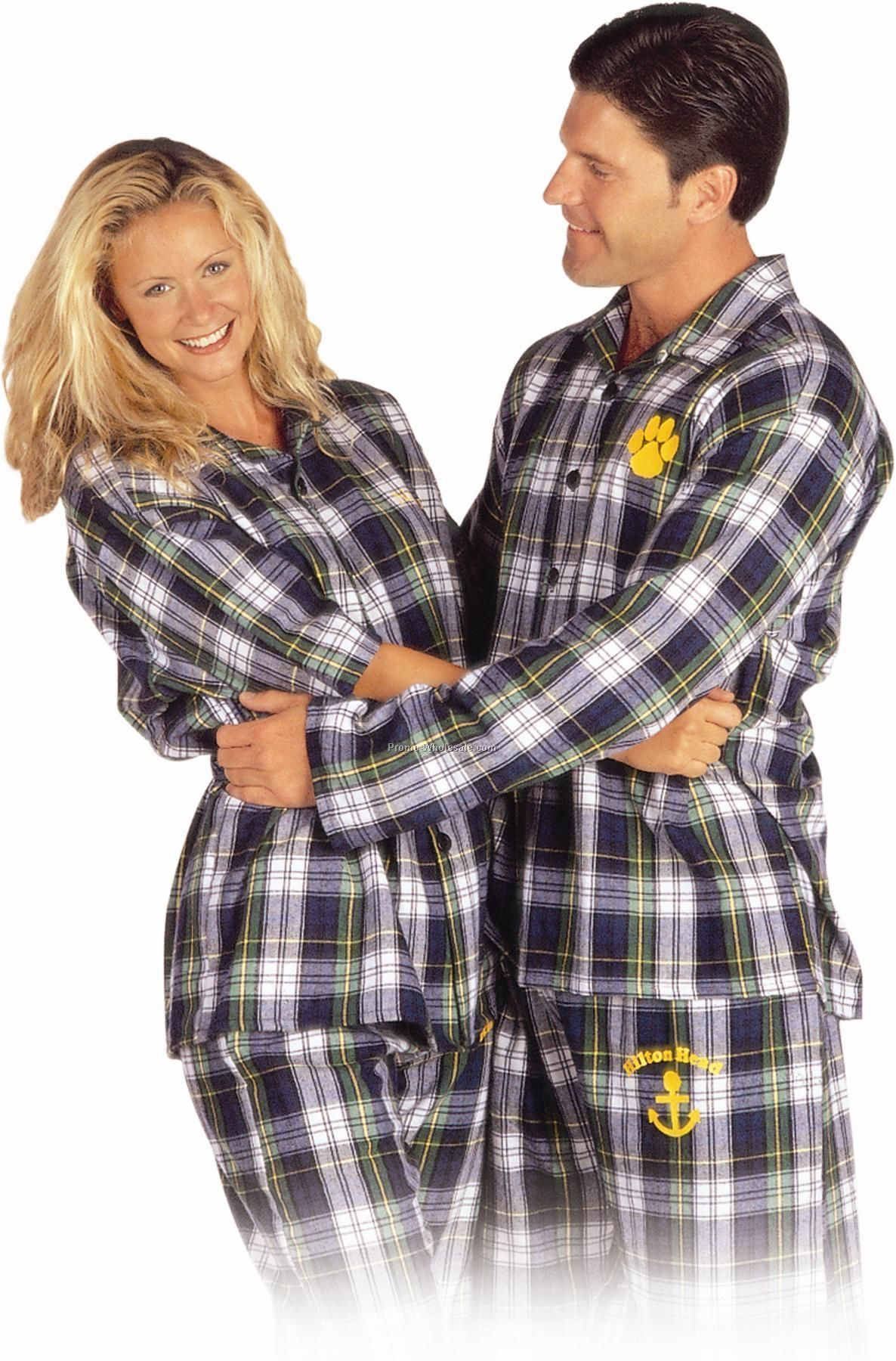 Adults' Flannel Pajama Top (S-xl)