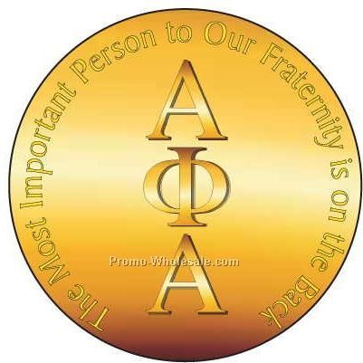 "Alpha Phi Alpha Fraternity Letters Round Mirror W/ Full Mirror Back(2-1/2"")"