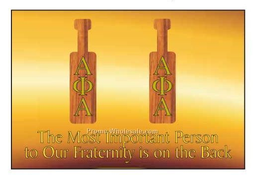 "Alpha Phi Alpha Fraternity Paddle Photo Hand Mirror (3-1/8""x2-1/8"")"