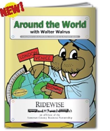 Around The World With Walter Walrus Coloring Book