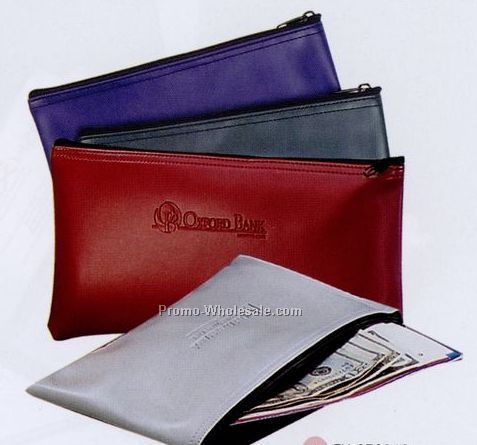 Bank Deposit Pouch (Burgundy Red)