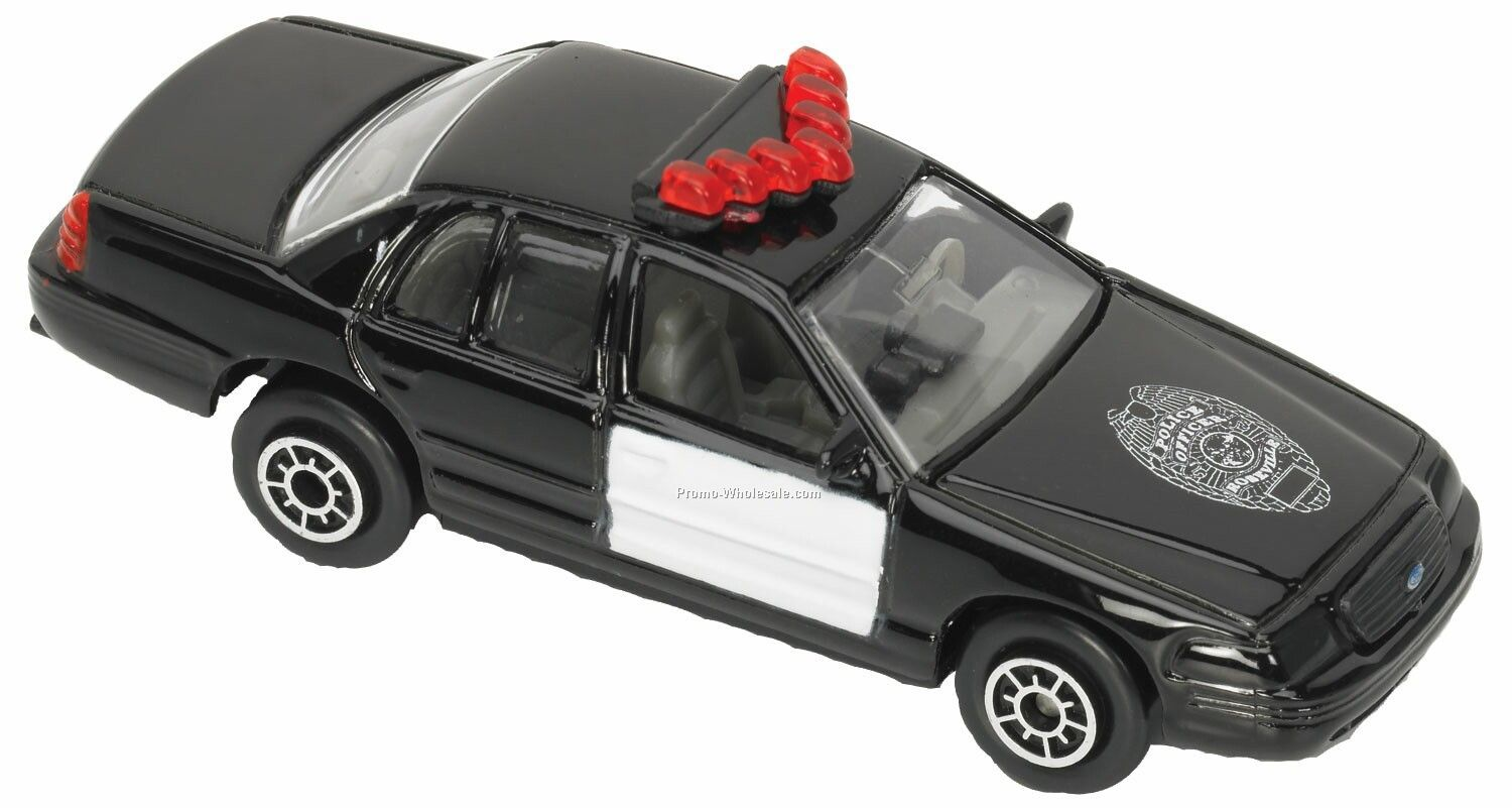 Black/ White Ford Interceptor Police Die Cast Mini Vehicles